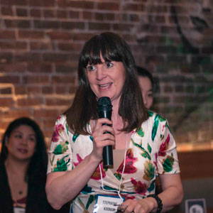 Stephanie presenting