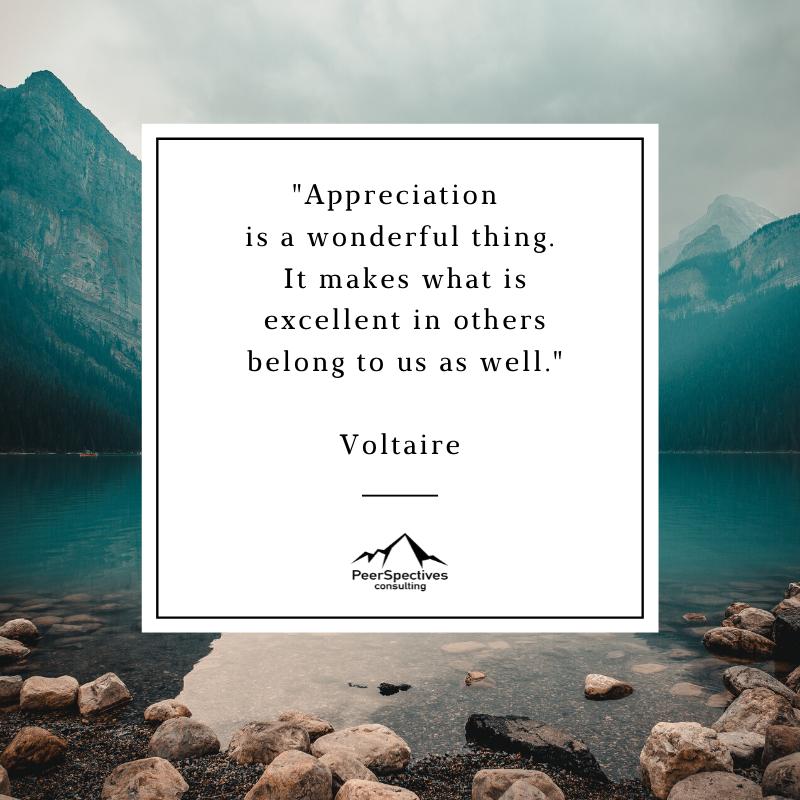 Appreciation is a wonderful thing